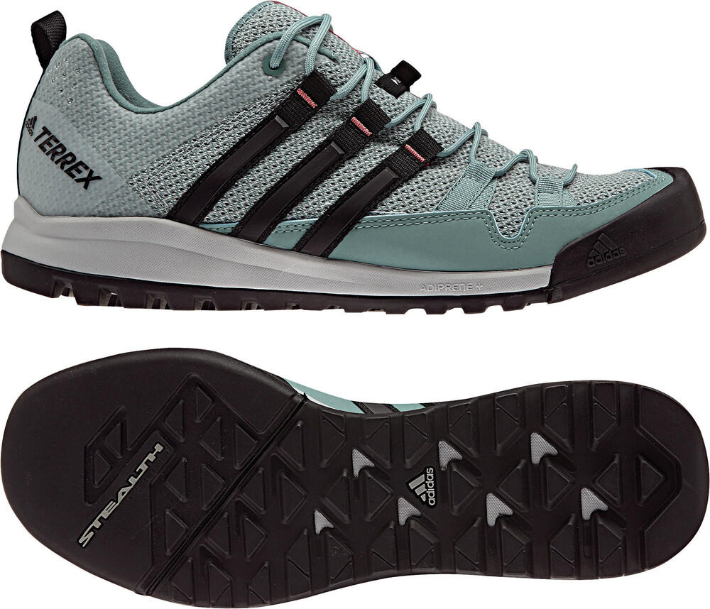 adidas Terrex Solo Shoes Women Clear Onix/Vapour Steel/Core Black Schuhgröße 5 mlybJx